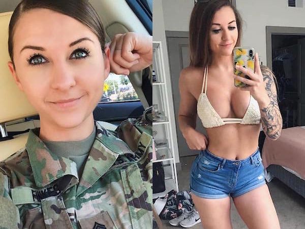 Bored women of the military nude photos